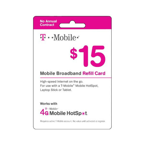 T-Mobile $15 Prepaid Mobile Broadband Pass, 300MB, 7-Day