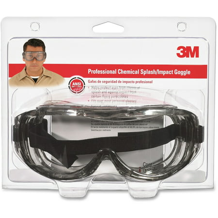 Tekk Protection, MMM9126480025T, Chemical Splash/Impact Goggles, 1 Each, Clear (Painters Goggles)