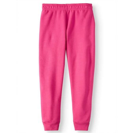 2b6026483195 Athletic Works - Girls  Fleece Jogger Sweatpants - Walmart.com