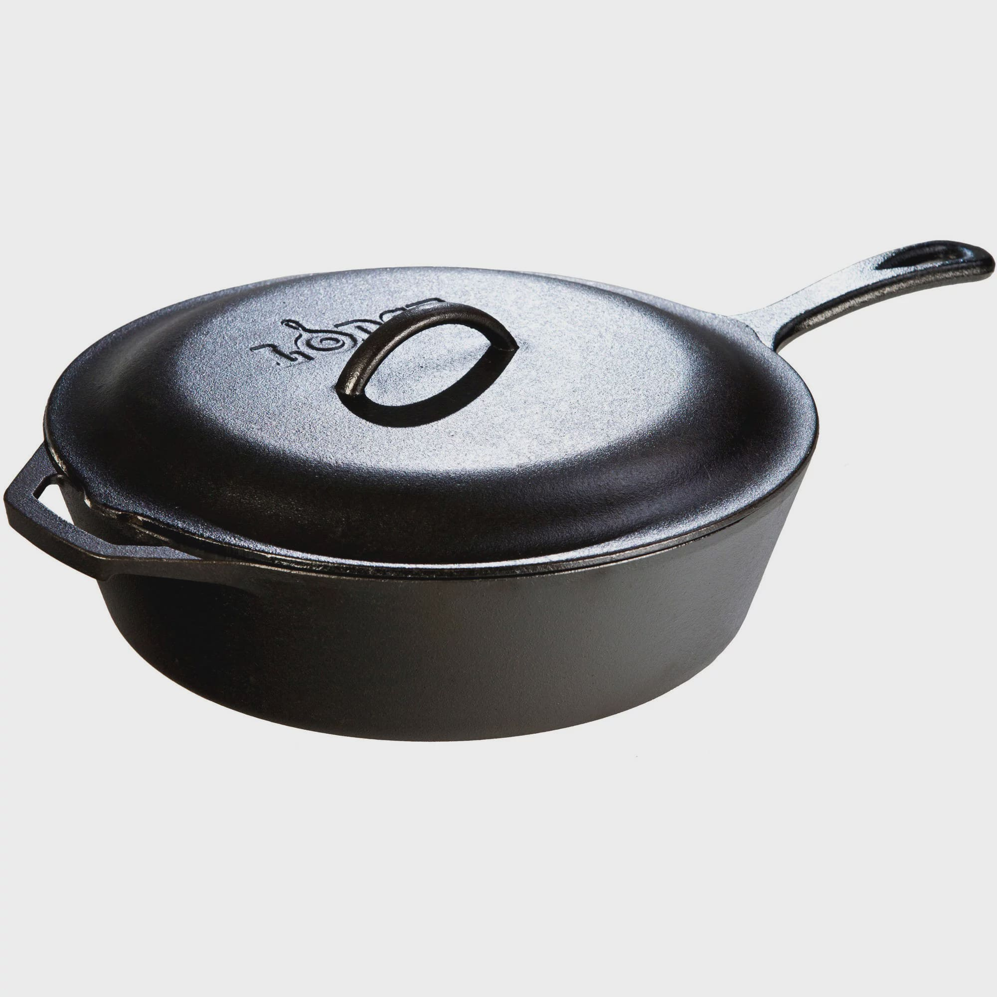 """Lodge 5 Quart, 12""""-diameter, Deep Skillet """"Chicken Fryer"""" L10CF3, with Cast Iron Cover by Lodge Mfg Co"""