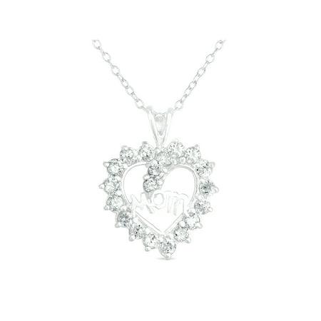 CZ Sterling Silver Heart
