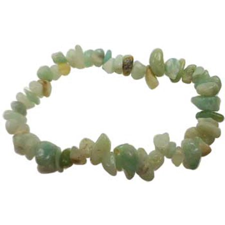 Amazonite Bracelet - Womens Jewelry Bracelet Amazonite Gemstone Chips Filter Out Life Stresses Heal Traumas Sooth Energy