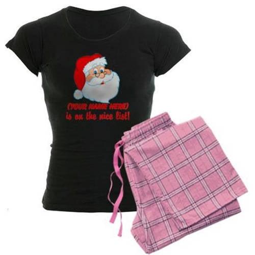 Personalized You're On The Nice List Women's Dark Pajamas
