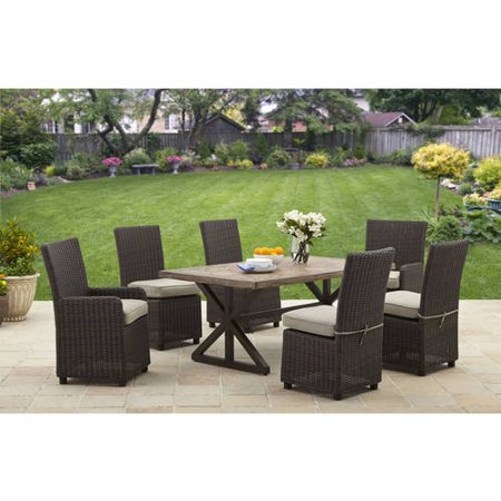 Better homes and gardens catalina faux wood trestle based - Better homes and gardens dining set ...