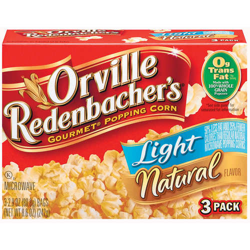 Orville Redenbacher's: Light Natural 2.9 Oz Microwave Popcorn, 3 Pk