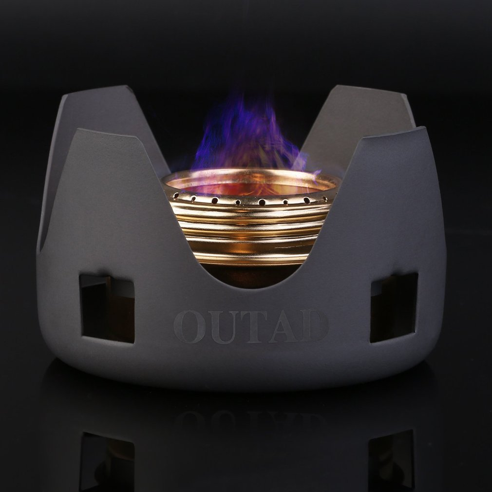 Alcohol outdoor portable windproof camping field alcohol stove furnace cookware gas cookout