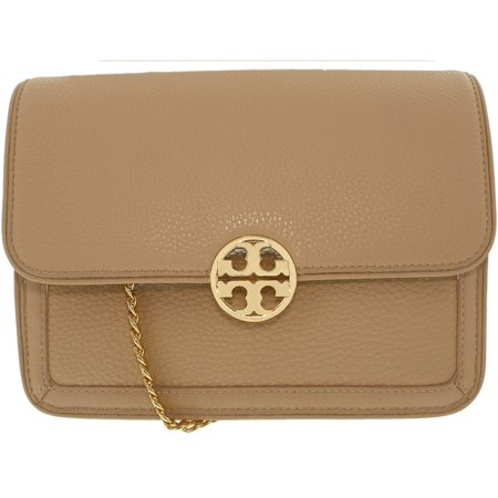 fb634ece03e Tory Burch Women s Duet Chain Convertible Leather Shoulder Bag - Light  Oak Spark Gold ...