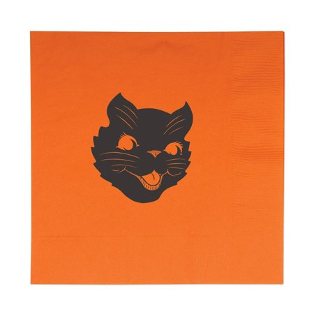 Halloween Items On Sale (16-Pack Halloween Cat Luncheon Napkins, This item is a great value! By)