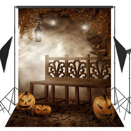 GreenDecor Polyster 5x7ft Halloween Pumpkin Horror Nights Costume Party Masquerade Series Photo Backdrops Studio Background Studio Props - Masquerade Backdrop