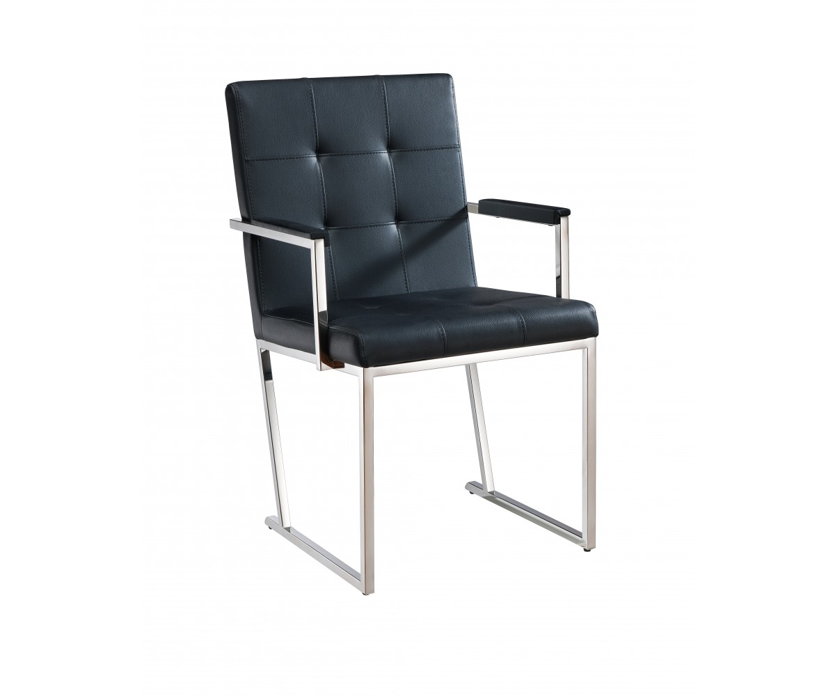 Desi Dining Armchair-Color:Black,Quantity:Set of 2 by Whiteline Modern Living