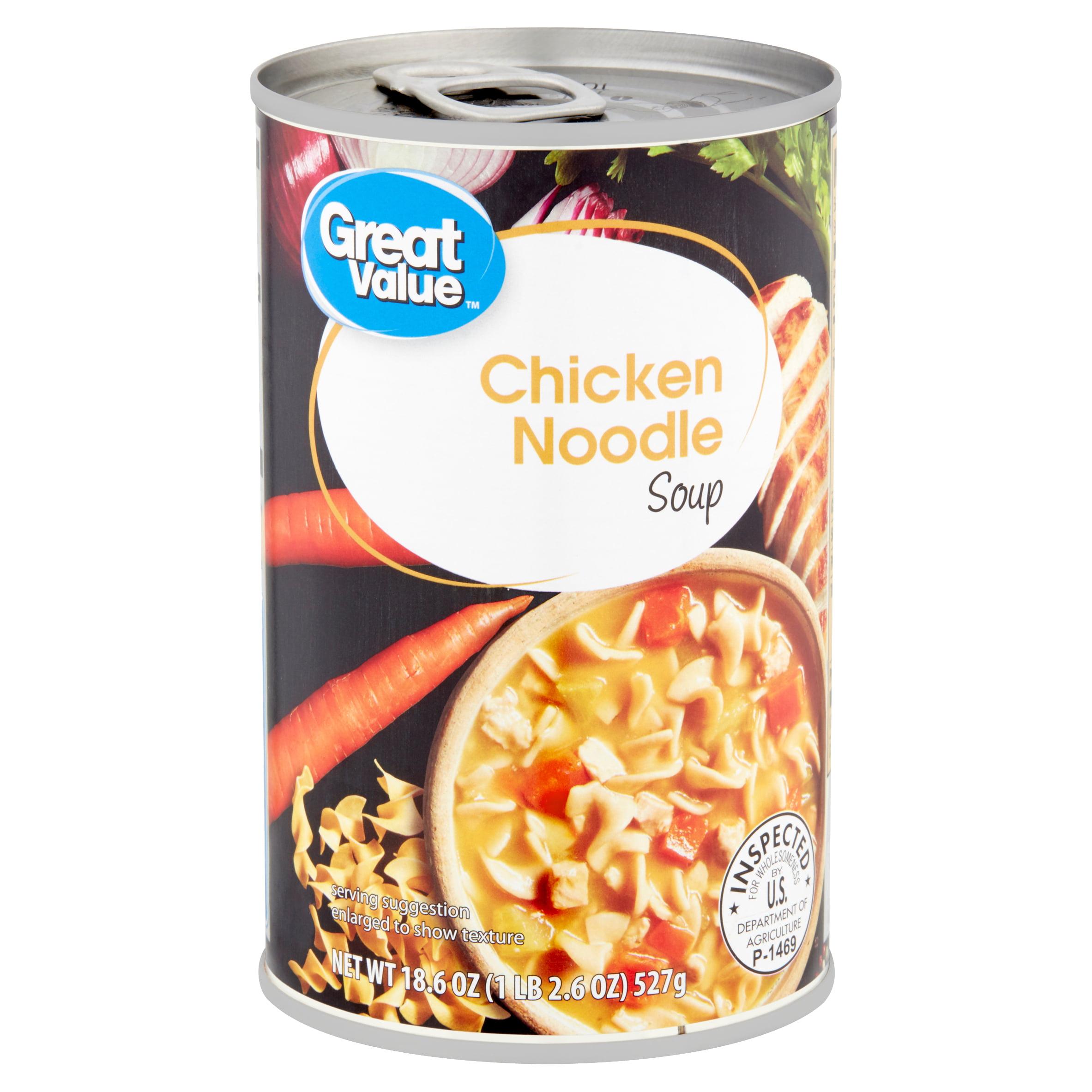 Great Value Chicken Noodle Soup, 18.6 oz
