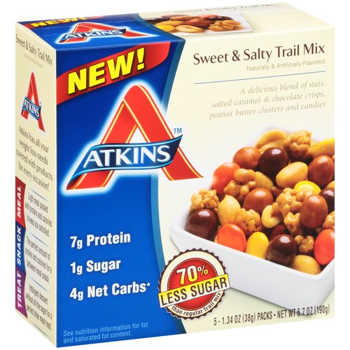 Atkins(tm) Sweet & Salty Trail Mix, 1.34 oz, 5 count