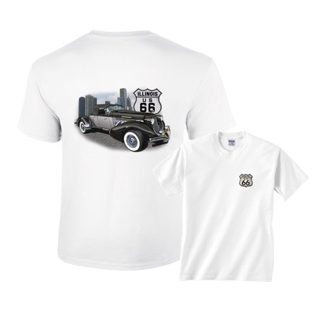 Black Car Illinois Historic US Route 66 T-Shirt