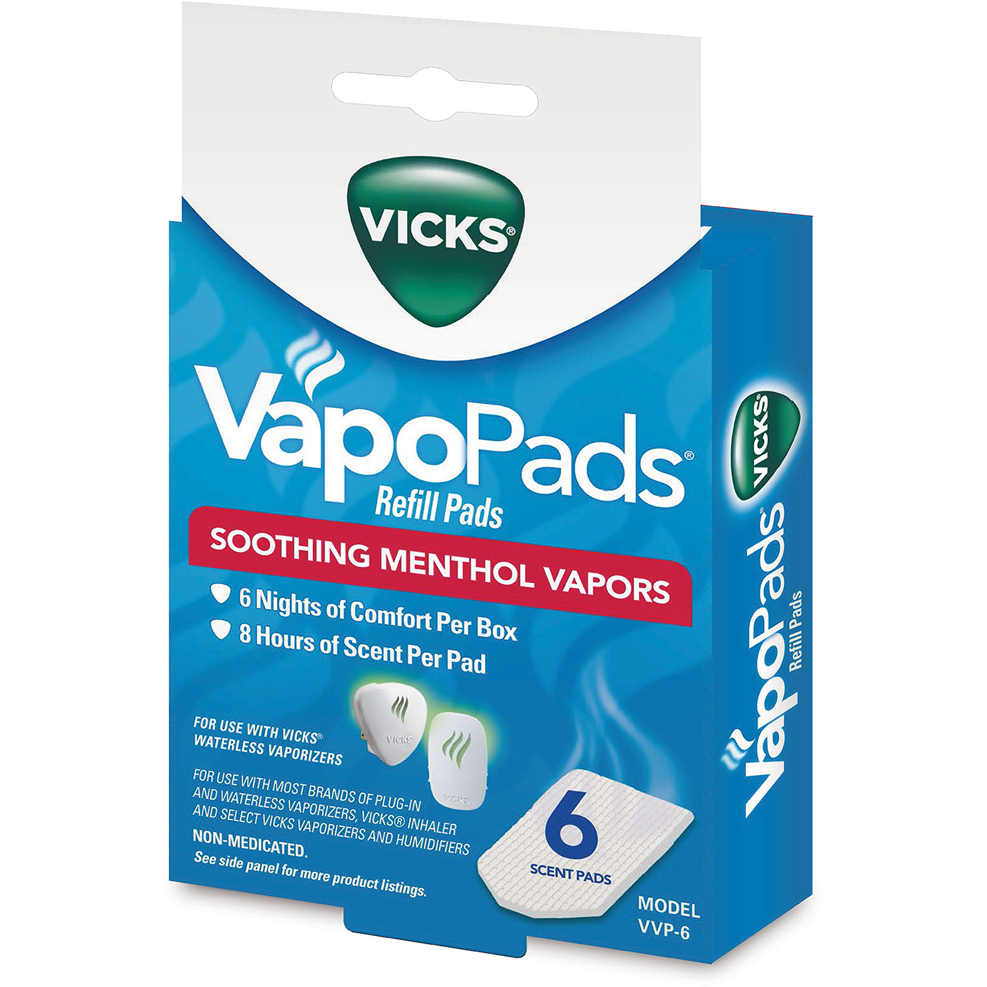 Vicks Soothing Vapors Replacement Pads, 6-Pack