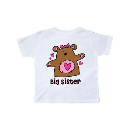 Teddy Bear Big Sister Toddler T-Shirt Big Sister Bear