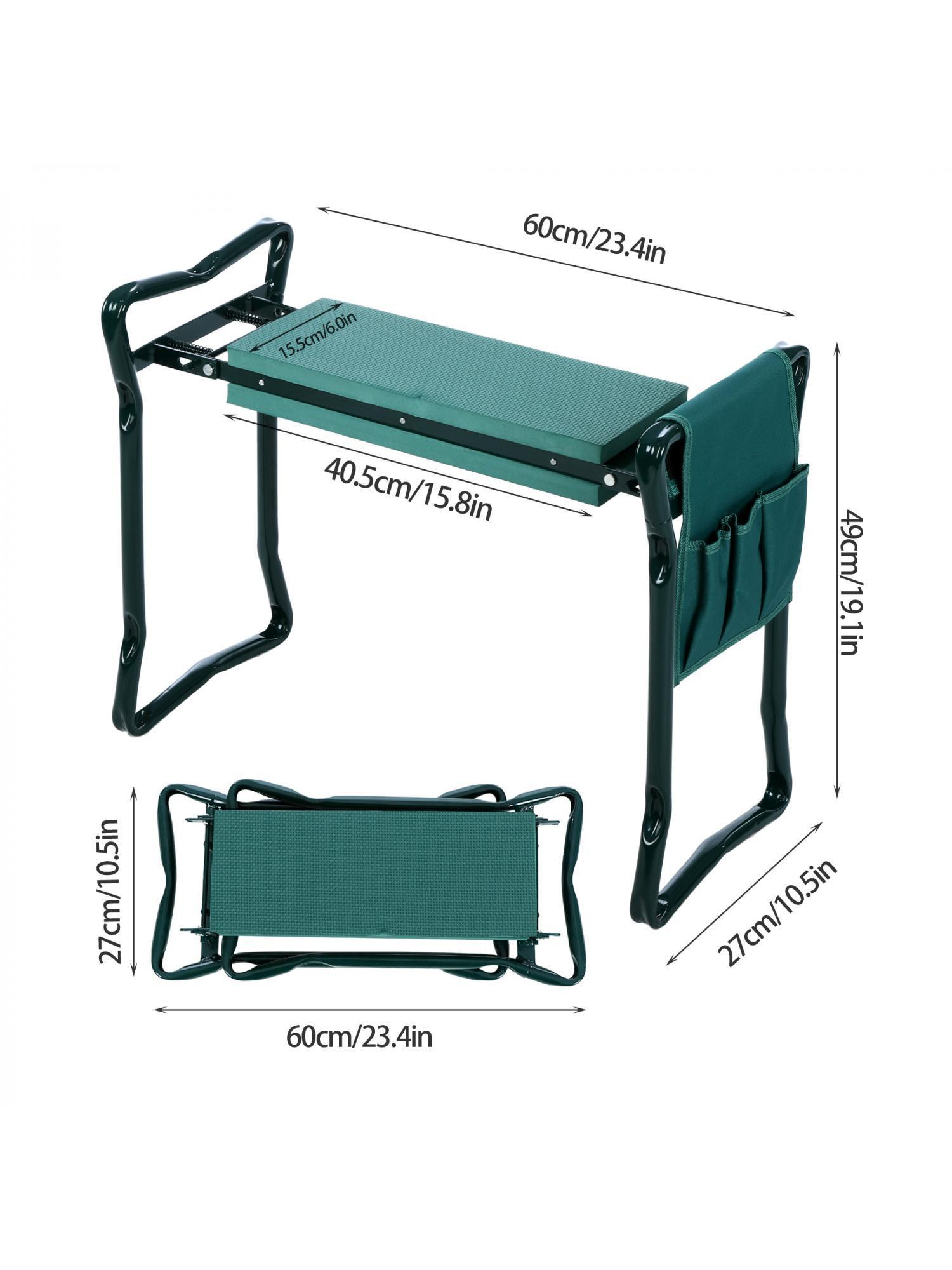 Folding Home/Garden Kneeler Bench Chair W/ 2 X Tool Pouchu0026EVA Kneeling Pad  Handles,250 Lbs Capacity Margot   Walmart.com