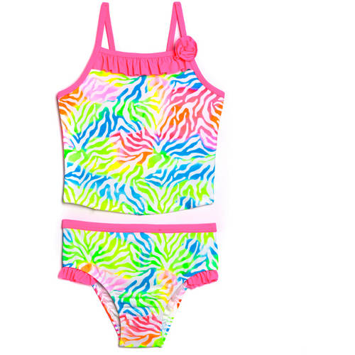 Op Toddler Girl Tie Dye Jungle  Tankini Swimsuit