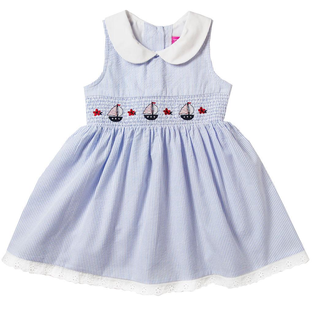 Good Lad Apparel Pink//White Dress Girls 18 Month Fancy Dress