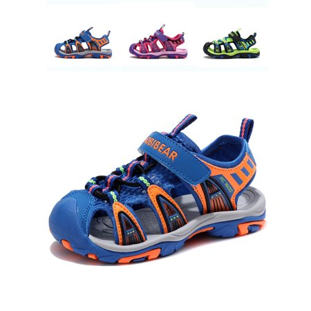 Ownshoe Summer Outdoor Beach Sports Closed-Toe Sandals for boys and girls(Toddler/Little Kid/Big