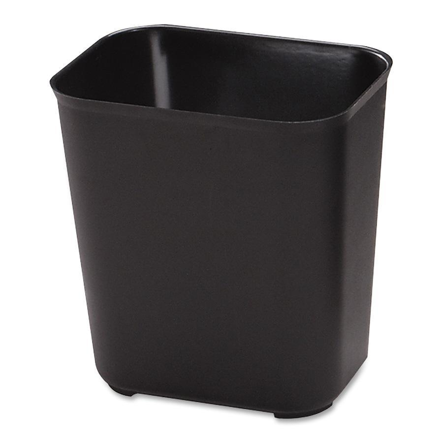 Rubbermaid 28qt. Fire Resistant Wastebasket, Black