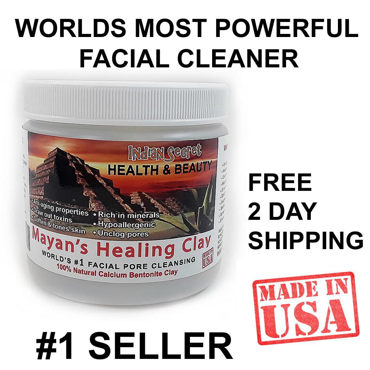 Maya Secret - Indische Heilerde - Gesichtsmaske zur Tiefenreinigung und Porenpflege | 100% natürlicher Bentonit Kalzium Ton Herkunft (1 Pfund)