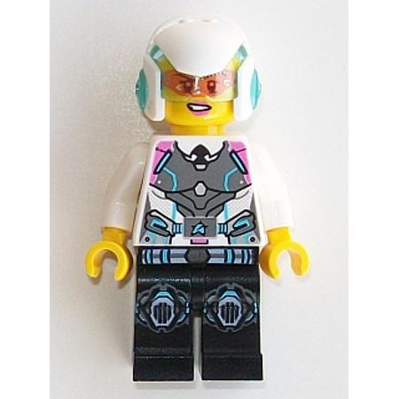 Patriots Logo Helmet (LEGO Ultra Agents Agent Caila Phoenix - Helmet Minifigure )