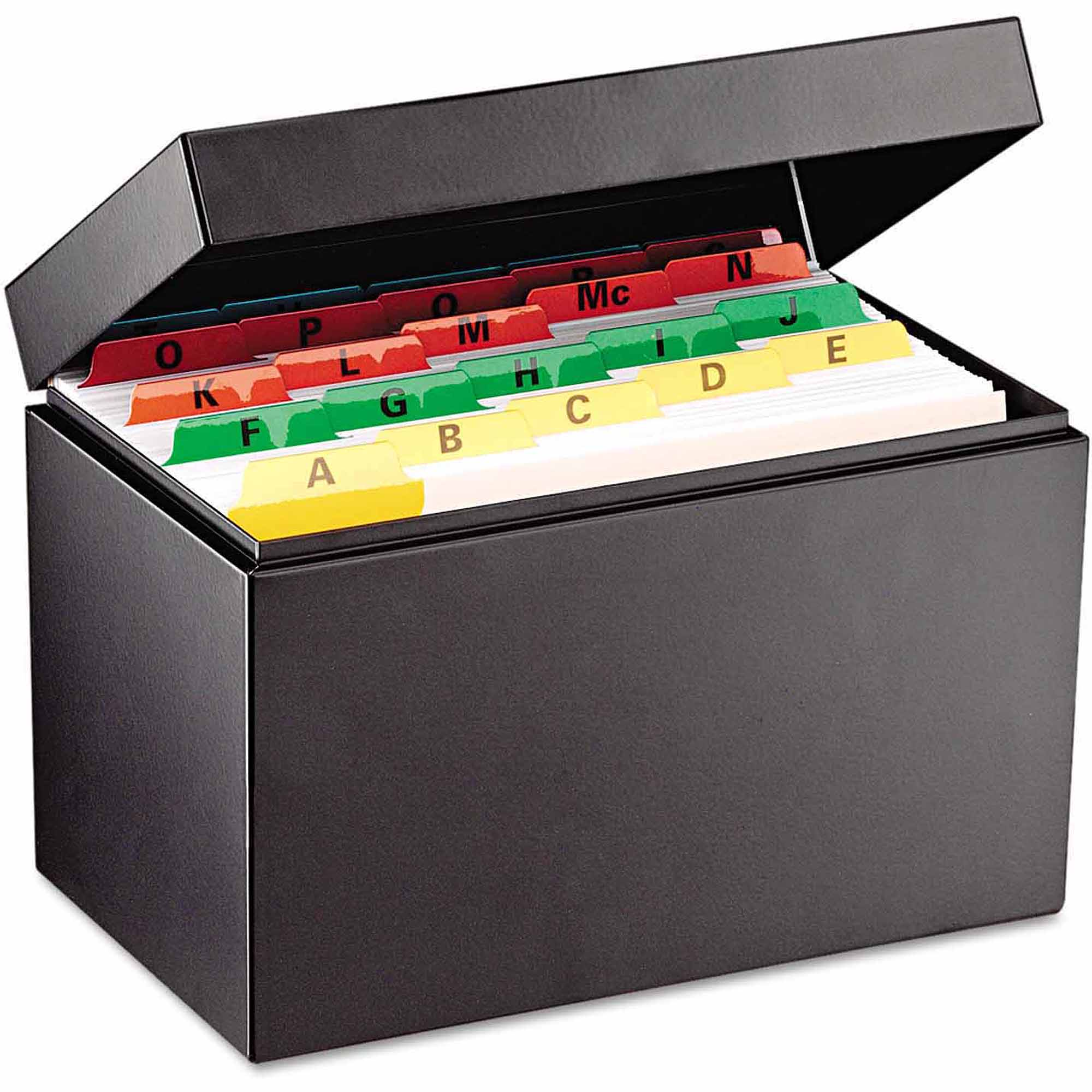 "SteelMaster Index Card File, Holds 900 5"" x 8"" cards"