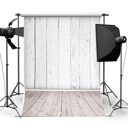 5x7FT Vinyl White Wood Floor Vintage Photography Backdrop Camera & Studio Photo Backgrounds