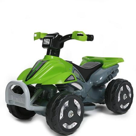 kids ride on 6v battery powered atv quad green