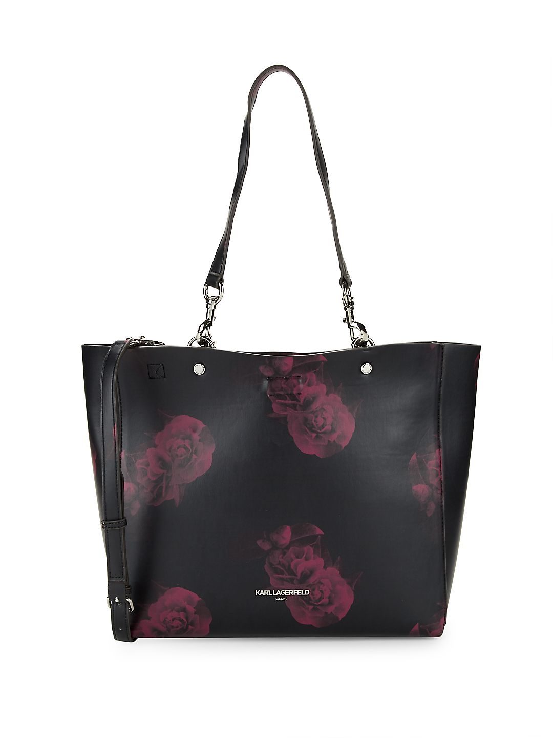 Adele Printed Faux-Leather Tote