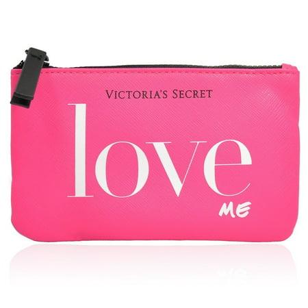 Victoria's Secret Love Me Small Travel Pink Zipper Cosmetic Bag