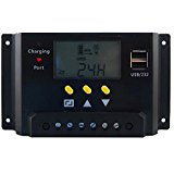 Mabelstar 30A 48V PWM solar charge controller LCD Battery...
