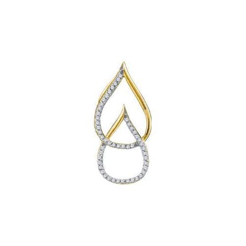 Gold and Diamond 54821 0. 15Ctw Diamond Micro Pave Pendant - 10KYG