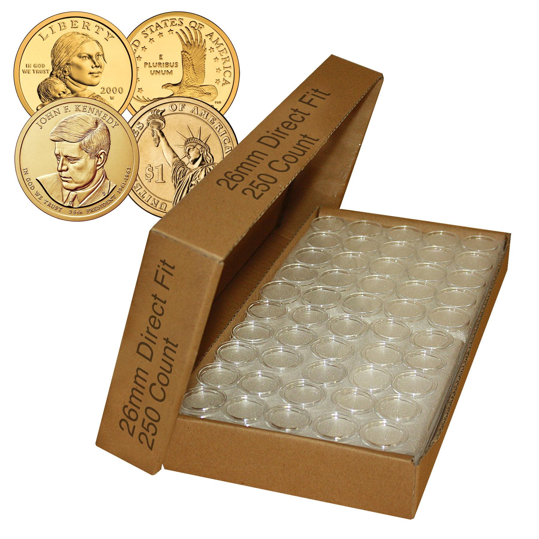 50 26mm Air-Tite Air Tite Airtite Coin Capsules for Small Dollars A26