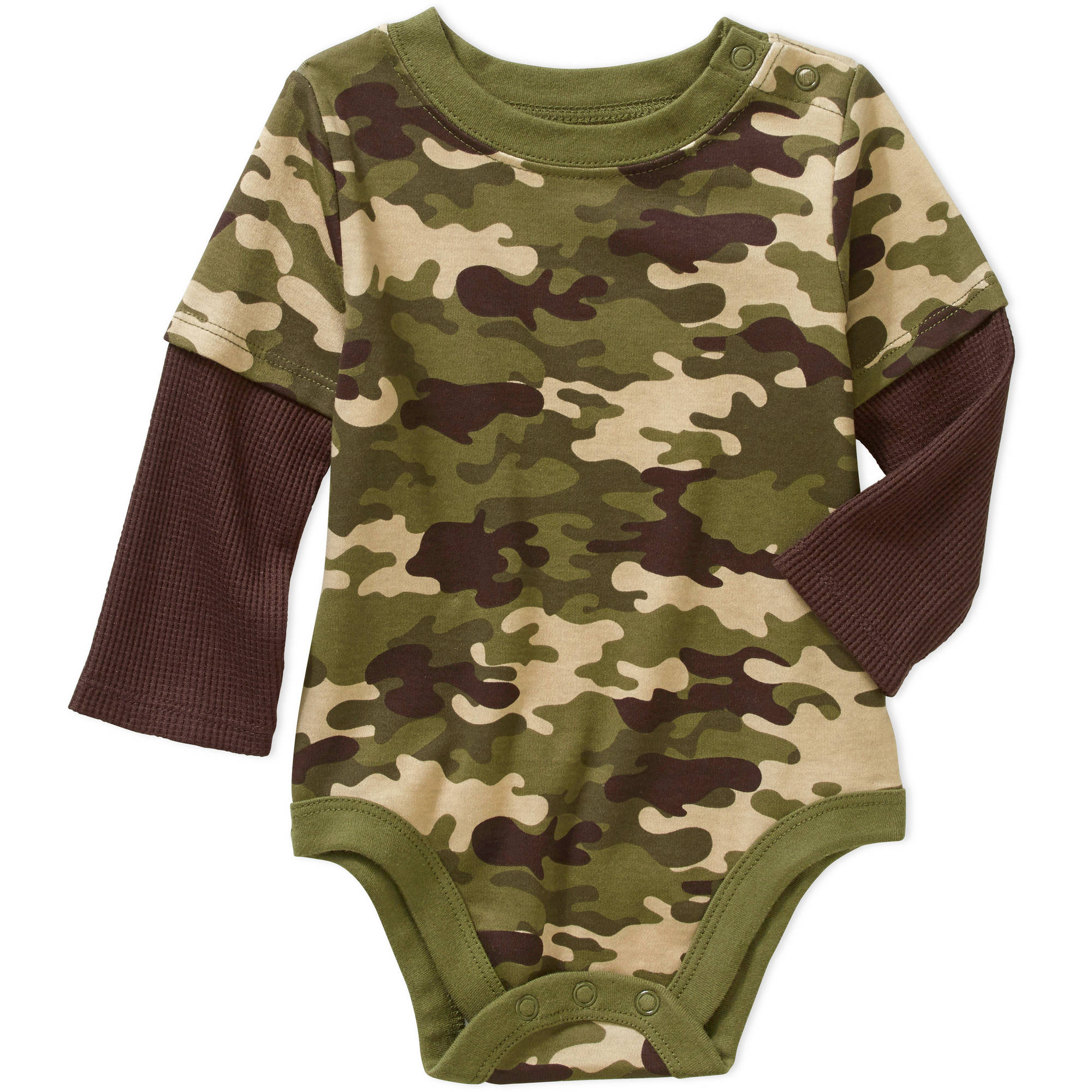 Garanimals Newborn Baby Boy Long Sleeve Hangdown Printed Bodysuit