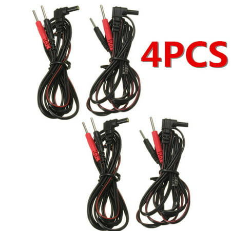 4x Electrode Lead Wires Standard Pin Connection Tens Ems Machines Unit Massager Electrode Piece Connecting Wire