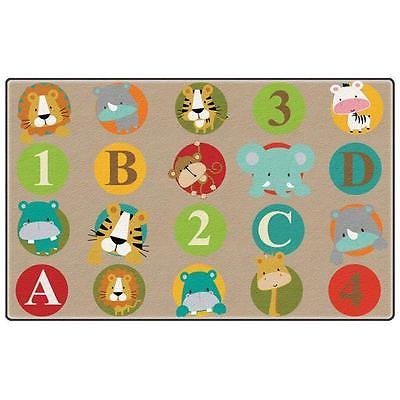 Rectangle Abc   123 Animals Primary Rug  7 Ft  6 In  X 12 Ft  24 Seats Area Rugs  Istilo176676  Rectangle Abc