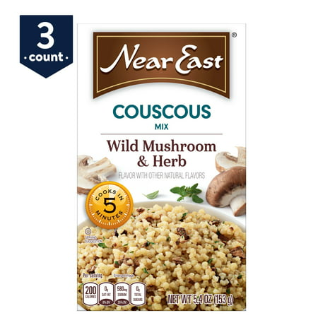 (3 Pack) Near East Couscous Mix, Wild Mushroom & Herb, 5.4 oz Box