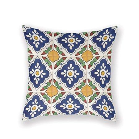 Pillowcase In Spanish Mesmerizing DEYOU Talavera Spanish Mexican Pillowcase Pillow Case Cover Two