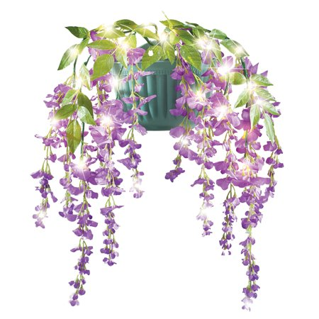 Led Flowers (Artificial Hanging Wisteria Flowers Wall Planter with LED)