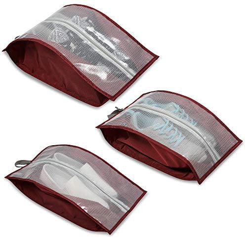 Hynes Eagle Shoe Bag Travel Shoes Bag Shoe Pouch for Women Men, 3pcs, Black