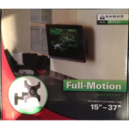 "SANUS SYSTEMS MF215-B1 15"" - 37"" LCD TV 15"" Extending Full-Motion Mount (Black)"