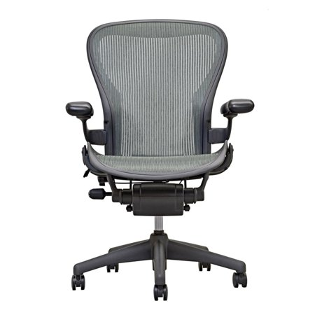 - Herman Miller Aeron Chair Size B (or C) Basic GRAY Model, Executive Office Chair