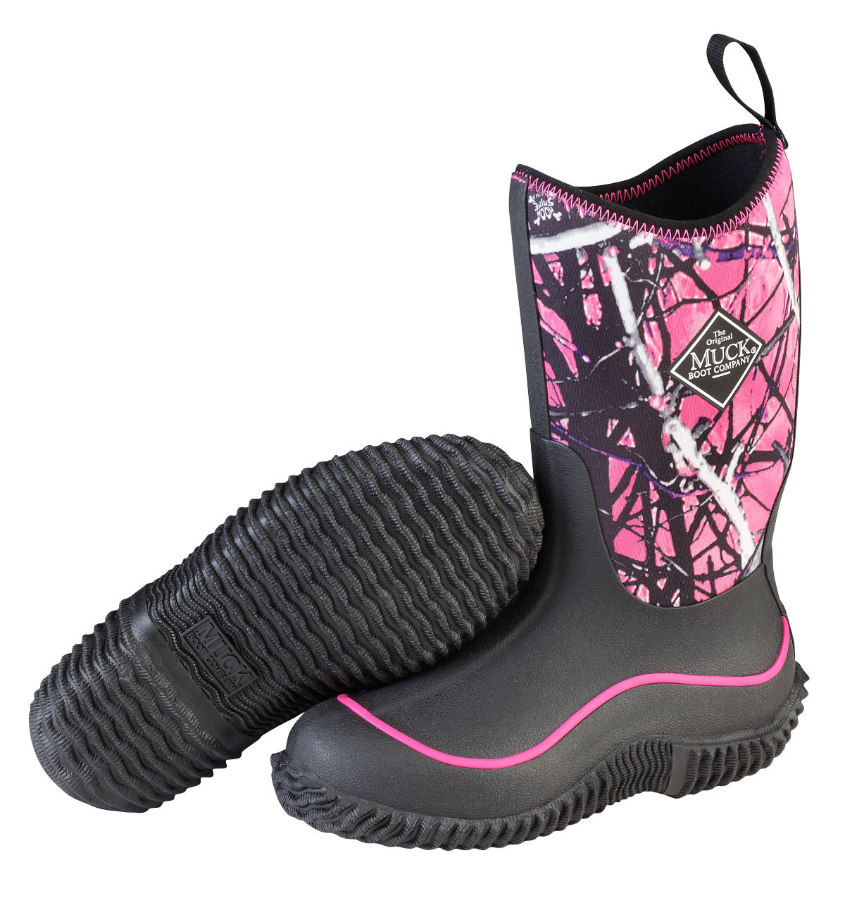 MuckBoots Kids Hale Black Muddy Camo Snow Boot Girl Rubber Sole Breathable C8 by Muck Boots