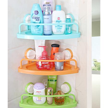 - Meigar Suction Cup Triangle Storage Shelves Rack Bath Corner Suction Shelf Shower Caddy Display Stand Bathroom Wall Corner Kitchen Organizer