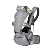 Baby HIPSEAT Carrier Ergonomic Air Mesh, SUNVENO Baby Carrier With Seat Breathable 6 in 1 Back and Front Carrier Safety Toddler Infant Newborn Carrier Baby Holder Outdoor Travel 0-36 Months, Grey