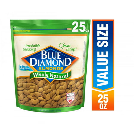 Rhody Almond (Blue Diamond Whole, Raw, Natural Almonds, 25 Oz )