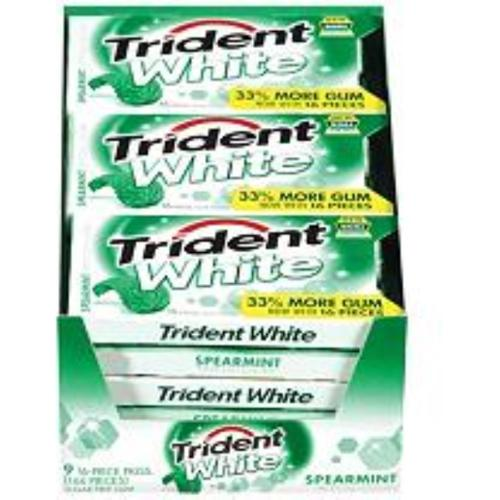 Trident  White Gum Spearmint 9 pack (16 ct per pack) (Pac...