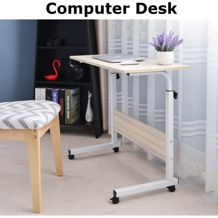 Rolling Computer Desk Height Adjustable Laptop Table Stand Desk Bed Side Reading Table for Home Office