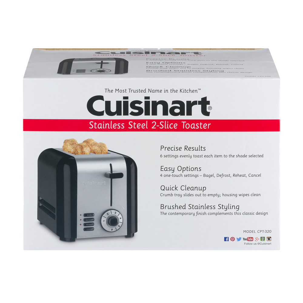 Cuisinart Stainless Steel 2-Slice Toaster, 1.0 CT